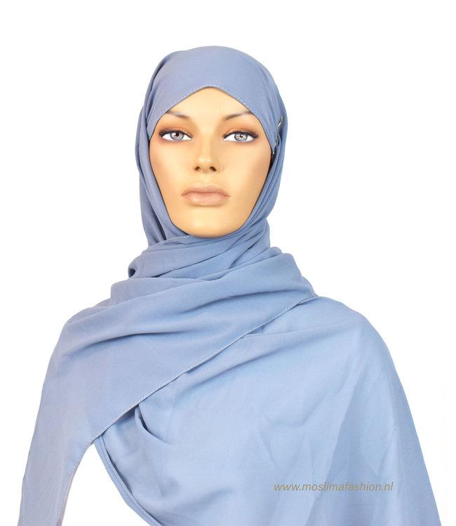Sófani Chiffon sjaal - Hemelsblauw