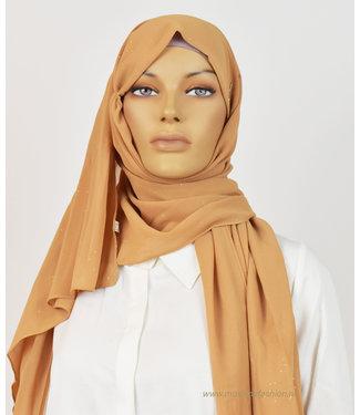 Sófani Chiffon sjaal met glitters - Terracotta