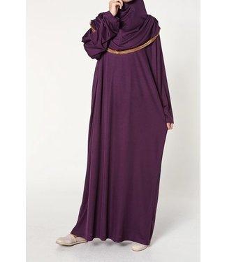 Gebedsjurk met hijab - Paars