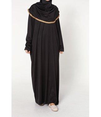 Gebedsjurk met hijab - Zwart