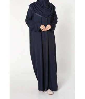 Prayer dress with hijab - Dark blue