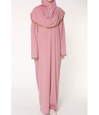 Gebedsjurk met hijab - Lichtkoraal