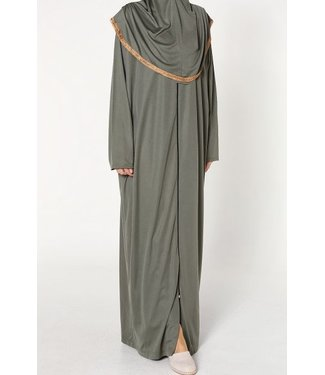 Prayer dress with zipper - Khaki