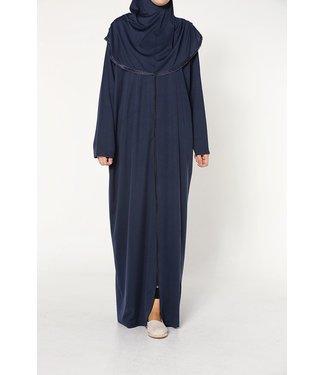 Prayer dress with zipper - Dark blue