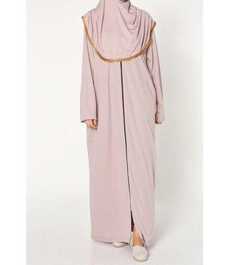 Prayer dress with zipper - Powder pink