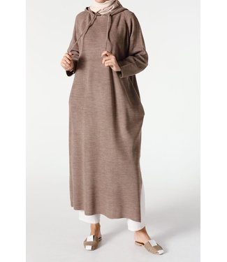 ALLDAY Tunic with hood - taupe