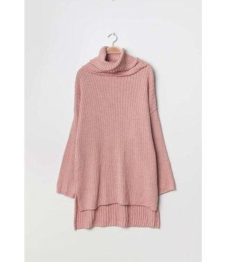 Oversized coltrui - Oud roze