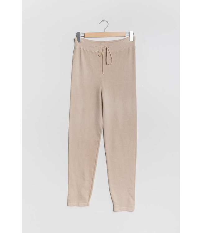 Knitted pants - Beige