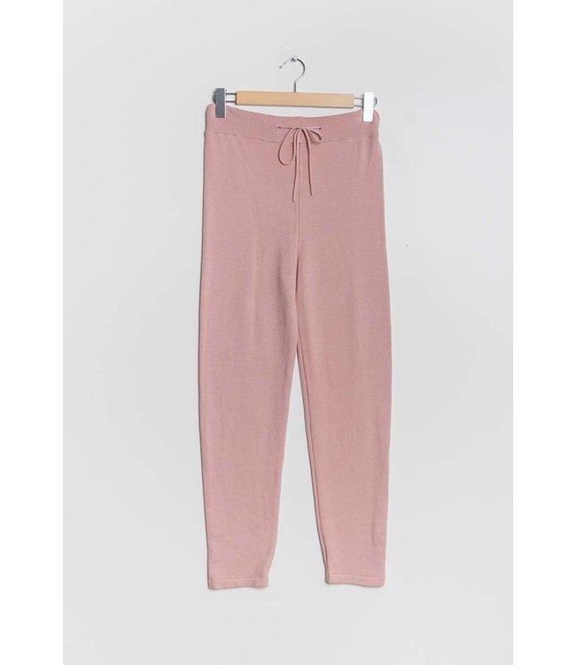 Gebreide broek - Oud roze