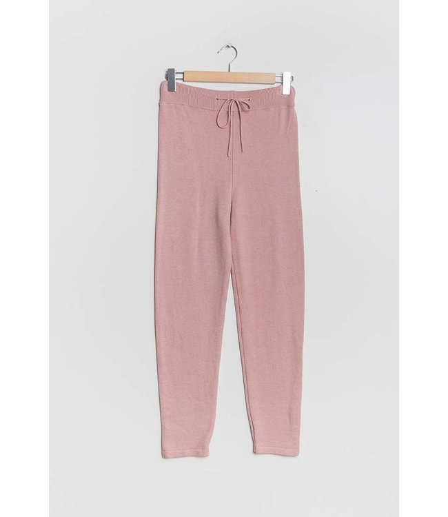 Knitted pants - Old pink