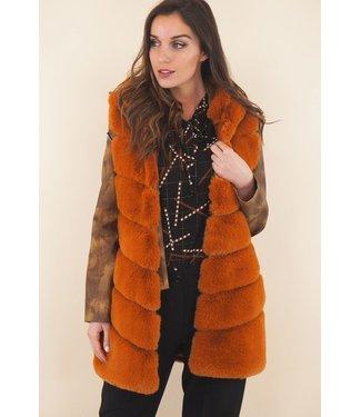 Sleeveless jacket - Camel