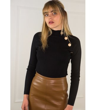 Sweater with buttons - Black