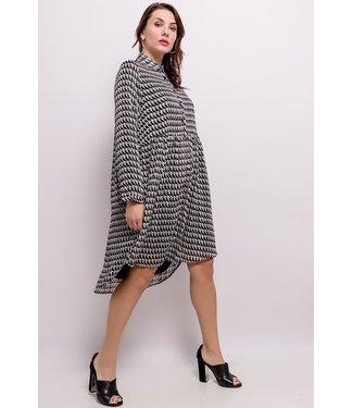 Loose printed dress - Two-tone