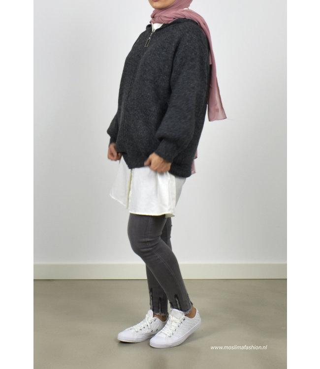 Knitted cardigan - Dark gray