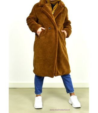 Teddy jacket - Dark brown