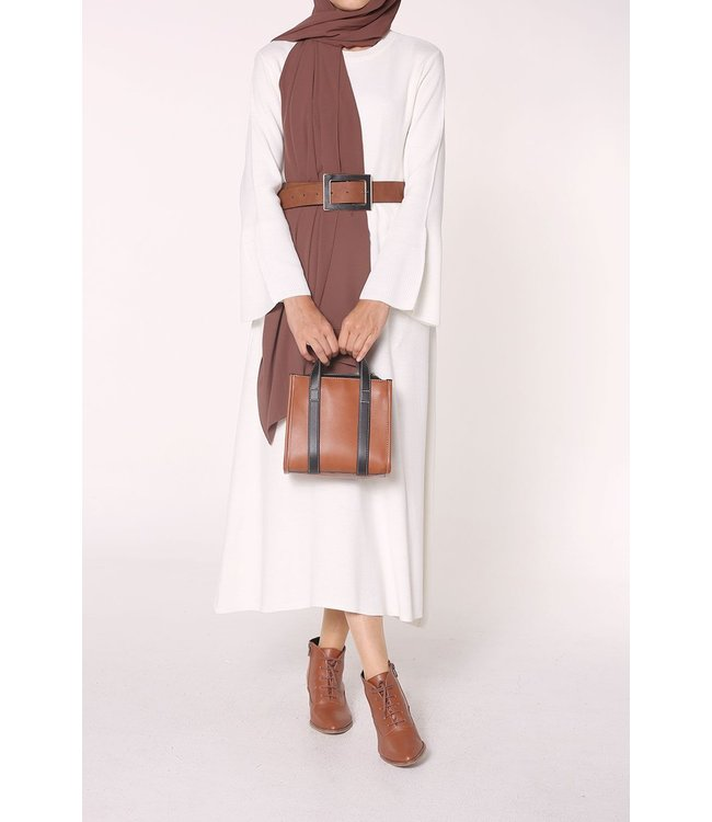 Knitted tunic - White