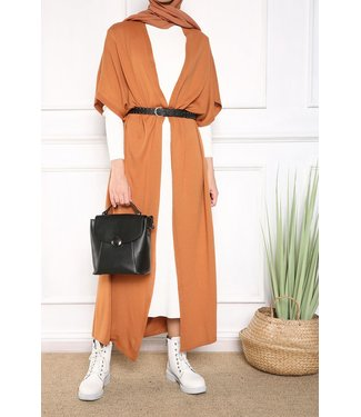 Fine Knitted cardigan - Cinnamon