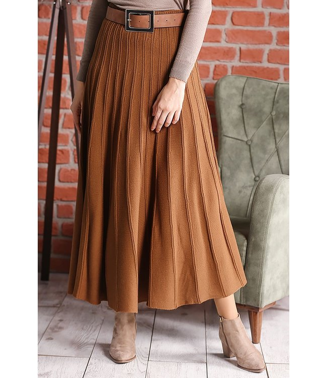 ALLDAY Knitted skirt - Chocolate