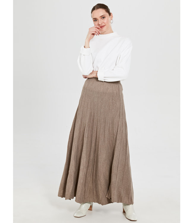 ALLDAY Knitted skirt - Taupe