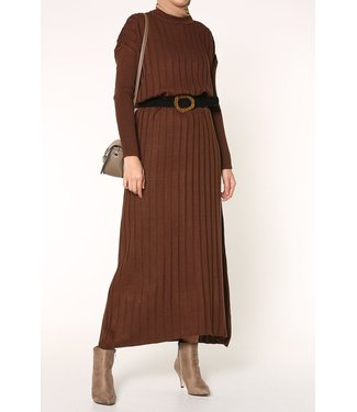 ALLDAY Knitted dress - brown