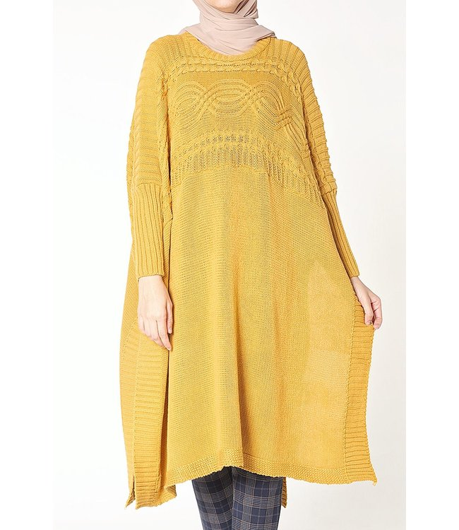 Poncho - Yellow ocher