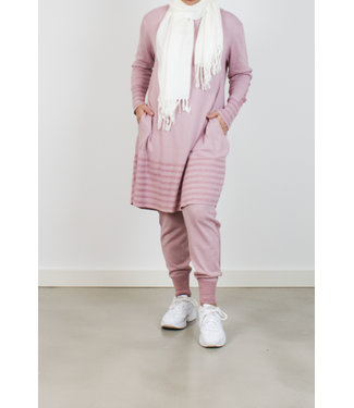 Fijngebreid set - Roze