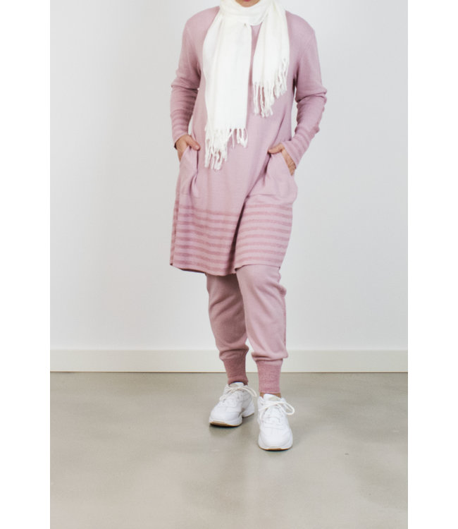 Fine-knit set - Pink