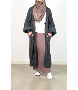 Outfit cardigan with puffed sleeves