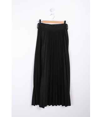 Long pleated skirt - Black