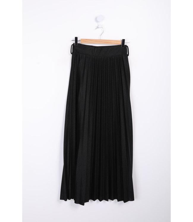 Long pleated skirt - Black
