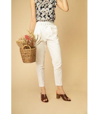 Cotton trousers - white