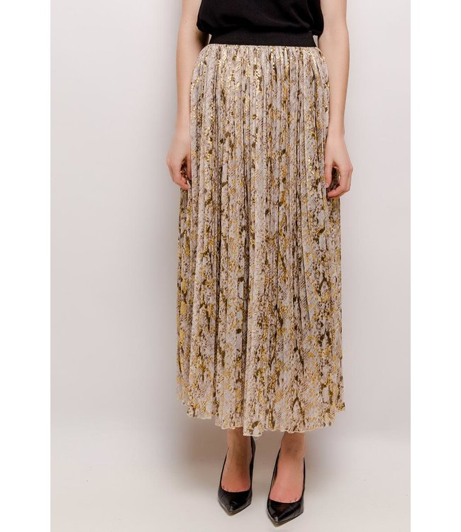 Skirt with python print - Beige