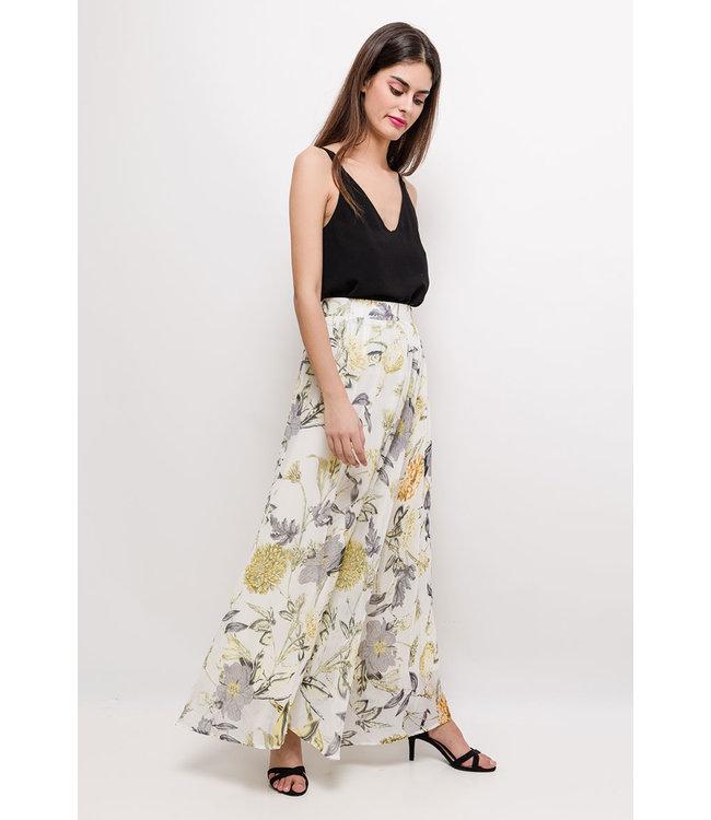 Lange rok met print - Geel