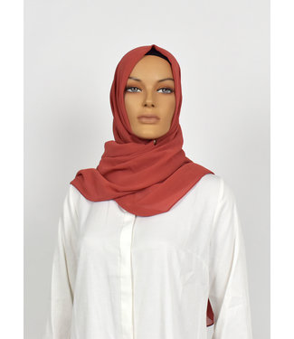 CHIFFON SCARF - Indian red