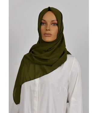 Chiffon scarf - Dark olive green