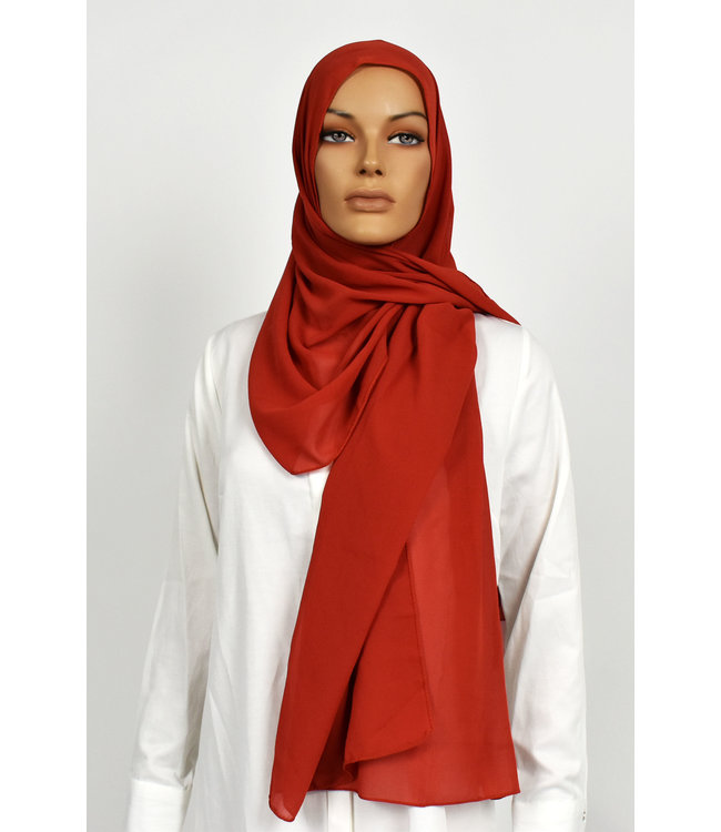 Chiffon scarf - Orange red