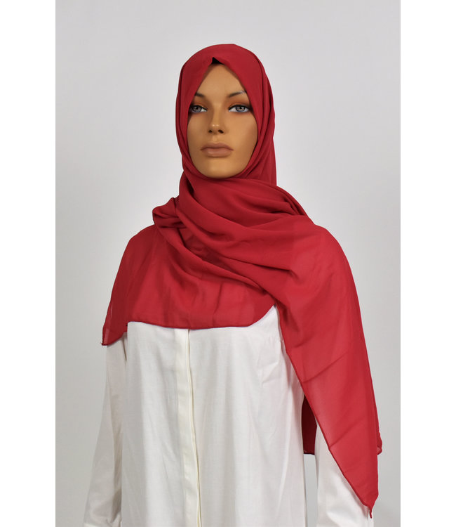 Chiffon sjaal - Karmijn 1