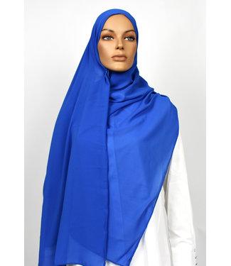 Chiffon sjaal - Koningsblauw