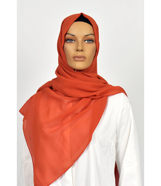 Chiffon scarf - Orange red