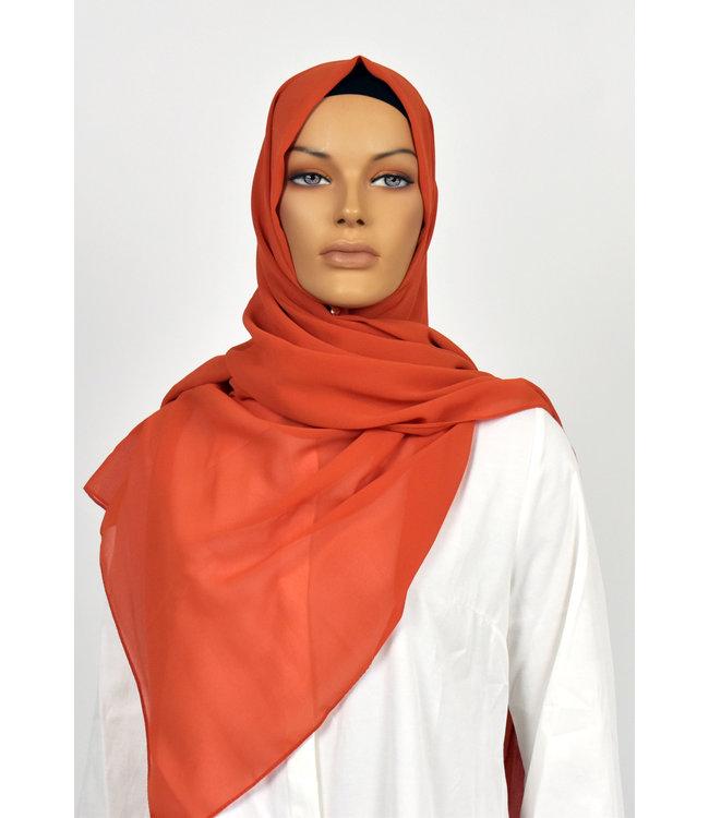 Chiffon sjaal - Oranjerood