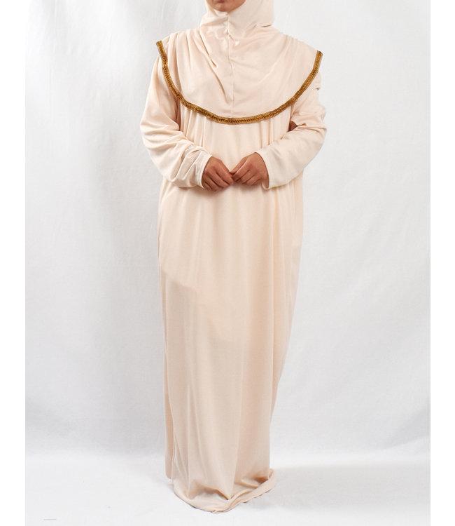 Gebedsjurk met hijab - Crème