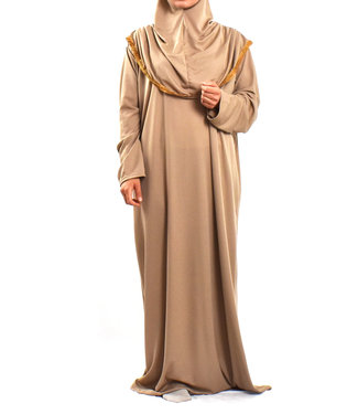 Gebedsjurk met hijab - Mokka