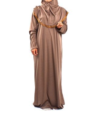 Prayer dress with hijab - Pink mist