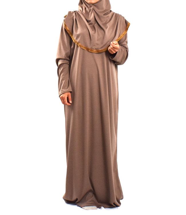 Gebedsjurk met hijab - Roze mist