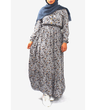 Katoenen jurk - Grijs