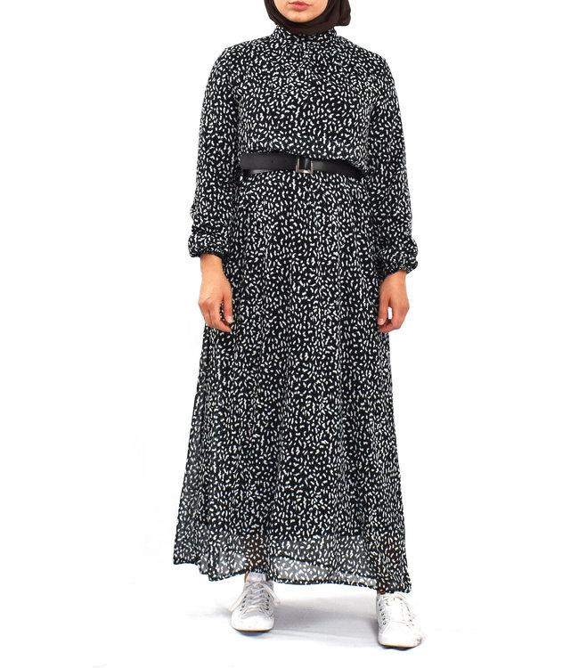 Dress with print - Black