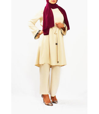 Set of trousers and tunic - Cream