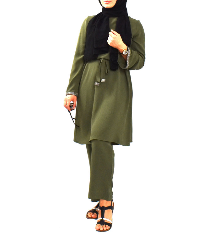 Set of trousers and tunic - Dark olive green