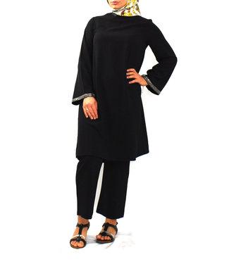 Set broek en tuniek - Zwart