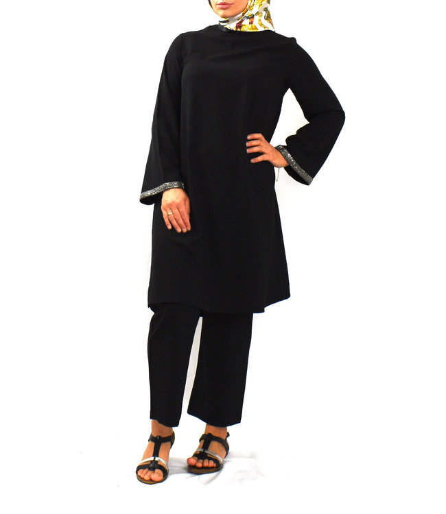 Set of trousers and tunic - Black